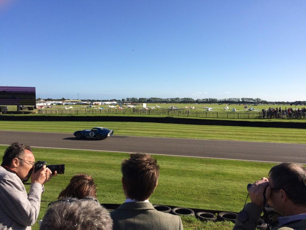 Cobra Daytona on track